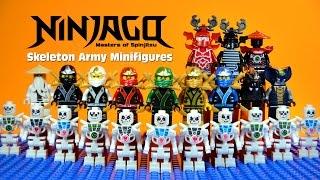 getlinkyoutube.com-LEGO Ninjago Masters of Spinjitzu vs Skeleton Warriors KnockOff Minifigures Set 10