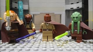 getlinkyoutube.com-LEGO STAR WARA Palpatine's arrest Mace Windu vs Darth Sidious