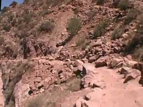 1 Grand Canyon Bright Angel Trail Run (down) at 6.25 mph, Mile 0 - 6.0 (Part 1 of 2)