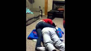 Girlfriend Wrestles with boyfriend