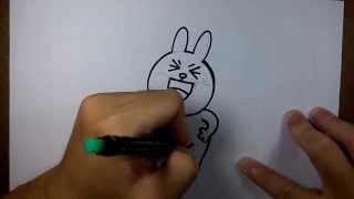 getlinkyoutube.com-วาดการ์ตูน กันเถอะ สอนวาดรูป การ์ตูน กระต่ายน้อย โคนี่ ชูสองนิ้ว