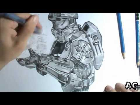AG #14 - Master Chief - Halo [Grafite] Speed Draw.