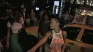 getlinkyoutube.com-Rihanna asked about Chris Brown and Drake fight at NYC club