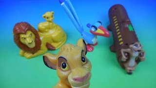 getlinkyoutube.com-2003 WALT DISNEY CLASSICS THE LION KING SPECIAL EDITION SET OF 4 McDONALD'S KIDS MEAL TOYS REVIEW