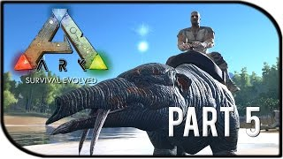 """getlinkyoutube.com-ARK: Survival Evolved Gameplay Part 5 - """"Riding the Phiomia Mount!"""""""