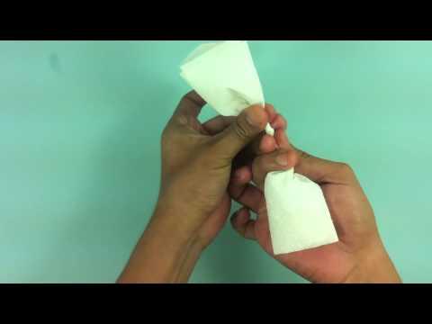 Rosa con servilletas - Hacer flor de papel