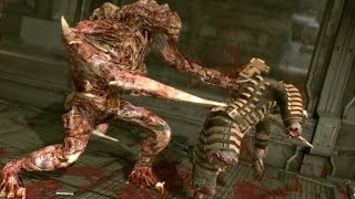 getlinkyoutube.com-Dead Space 1 The Hunter / Regenerator boss fight