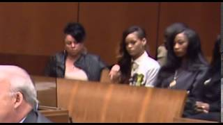 getlinkyoutube.com-Inside court  Rihanna reacts as Chris Brown listens to the judge