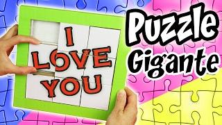 getlinkyoutube.com-PUZZLE GIGANTE de Cartón - REGALO Original | Manualidades aPasos