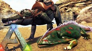 getlinkyoutube.com-Ark Survival Evolved - NEW DINOS! KAPROSUCHUS & DIPLOCAULUS TAMING S3E8 (Ark Update Gameplay)