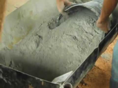 Preparação solo e cimento - Serra Verde