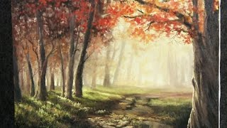 getlinkyoutube.com-Autumn Sunlight | Paint with Kevin Hill