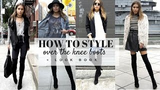 getlinkyoutube.com-HOW TO STYLE: Over The Knee Boots + LOOK BOOK