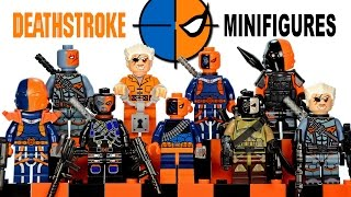 getlinkyoutube.com-My LEGO Deathstroke 2016 DC Comics Super Heroes Minifigure Complete Collection