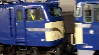 getlinkyoutube.com-EF65-1 EF58-150 オロネ24-4 網干総合車両所宮原支所から京都鉄道博物館への保存車両輸送