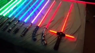 getlinkyoutube.com-Star Wars Force Fx lightsaber collection