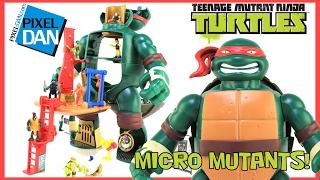 Teenage Mutant Ninja Turtles Micro Mutants Raph Train & Battle Mini Playset Video Review