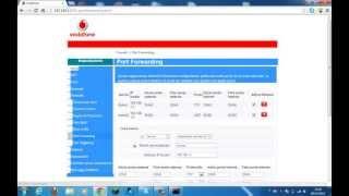 getlinkyoutube.com-Tutorial - Apertura porte router - Vodafone Station - Port Forwading