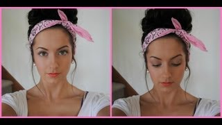 "getlinkyoutube.com-""Messy"" Bun With Bandana!"