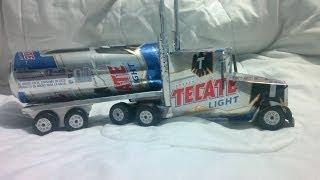 getlinkyoutube.com-trailer hecho con latas de aluminio tutorial   truck made from aluminum cans tutorial
