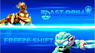 getlinkyoutube.com-Skylanders Swap Force PVP - Blast Drilla VS Freeze Shift