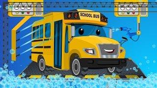 School bus | car wash | childrens cartoon street vehicles