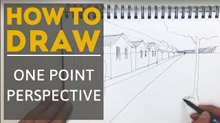 getlinkyoutube.com-Linescapes: How to draw one point perspective