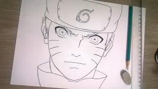 Como  desenhar e pintar Naruto de forma facíl,primeira etapa.