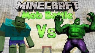 getlinkyoutube.com-HULK Vs MUTANT ZOMBIE | Minecraft Mob Battles (HULK SMASH)