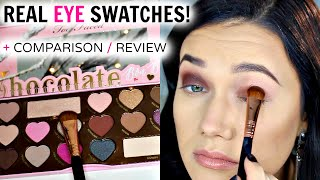 getlinkyoutube.com-TOO FACED Chocolate Bon Bons REAL Swatches + Comparison Review!