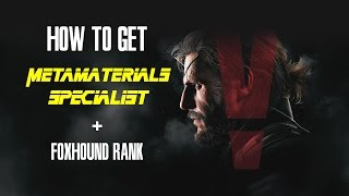 getlinkyoutube.com-MGSV Metamaterials Specialist + Foxhound Rank
