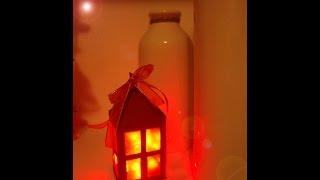 getlinkyoutube.com-DIY: Riciclo creativo con la carta • Lanterna Natalizia