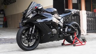 getlinkyoutube.com-Kawasaki Ninja ZX-10R Exhaust Tylormade Full Sytem Sound,Projector Headlight (istimewa)