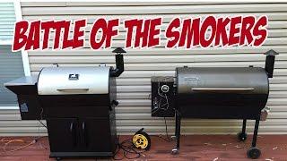 getlinkyoutube.com-Grilla Grills vs Traeger - BATTLE OF THE SMOKERS