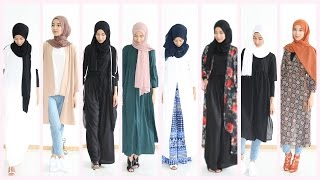 getlinkyoutube.com-Hijab Lookbook : 13 outfit ideas Shein