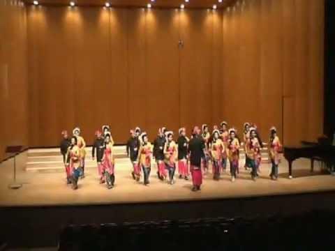 Naik Delman sung by TIMUTIWA CHOIR at World Choir Championship Korea 2009 Condt by Donny Soemarsaid