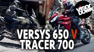 getlinkyoutube.com-Kawasaki Versys 650 vs Yamaha Tracer 700 | Visordown motorcycle road test