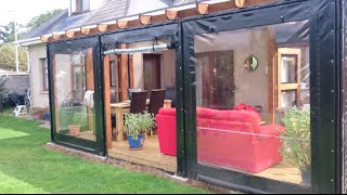 getlinkyoutube.com-2015 Deck Build - with polycarbonate roof and PVC side covers