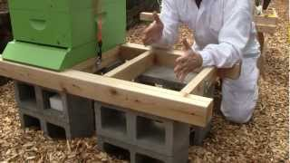 Bee Vlog #36 - June 2, 2012 - Part 1: Hive stand