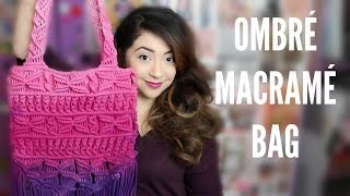 getlinkyoutube.com-OMBRÉ MACRAMÉ BAG