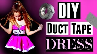 DIY DUCT TAPE HOMECOMING DRESS - HowToByJordan