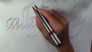 getlinkyoutube.com-HOW TO WRITE CALLIGRAPHY WITH A NORMAL PEN