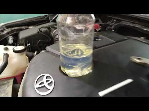 Замена топливного фильтра на Toyota fortuner 2,8D часть4