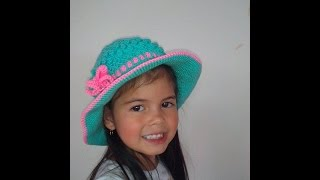 getlinkyoutube.com-Sombrero Playero en Crochet
