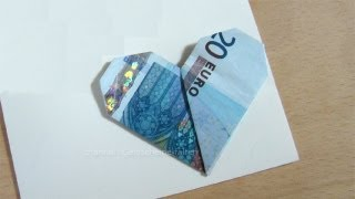 getlinkyoutube.com-Geldscheine falten: Herz