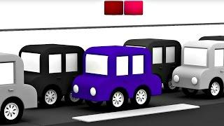 getlinkyoutube.com-3D музыкальный мультфильм 4 машинки. Песенка про машинки. Пробка.