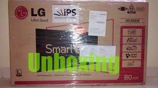 getlinkyoutube.com-LG 32LB5820 32 inches full HD LED TV UNBOXING...Flipkart purchase..smart TV full HD