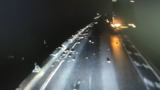 getlinkyoutube.com-[箱根事故]トレーラーが橋から転落炎上した死亡事故の衝撃瞬間映像