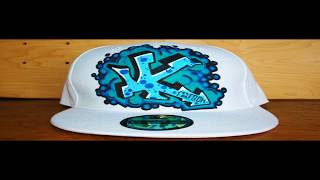 getlinkyoutube.com-HOW TO GRAFFITI A HAT #5 letters street art tag draw spray paint tutorial hip hop artist new era cap