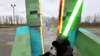 getlinkyoutube.com-Star Wars vs Minecraft Real Life